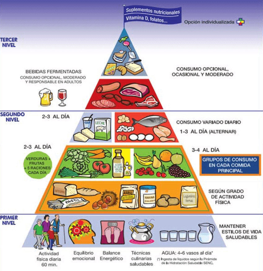 Pirámide alimenticia SENC 2015