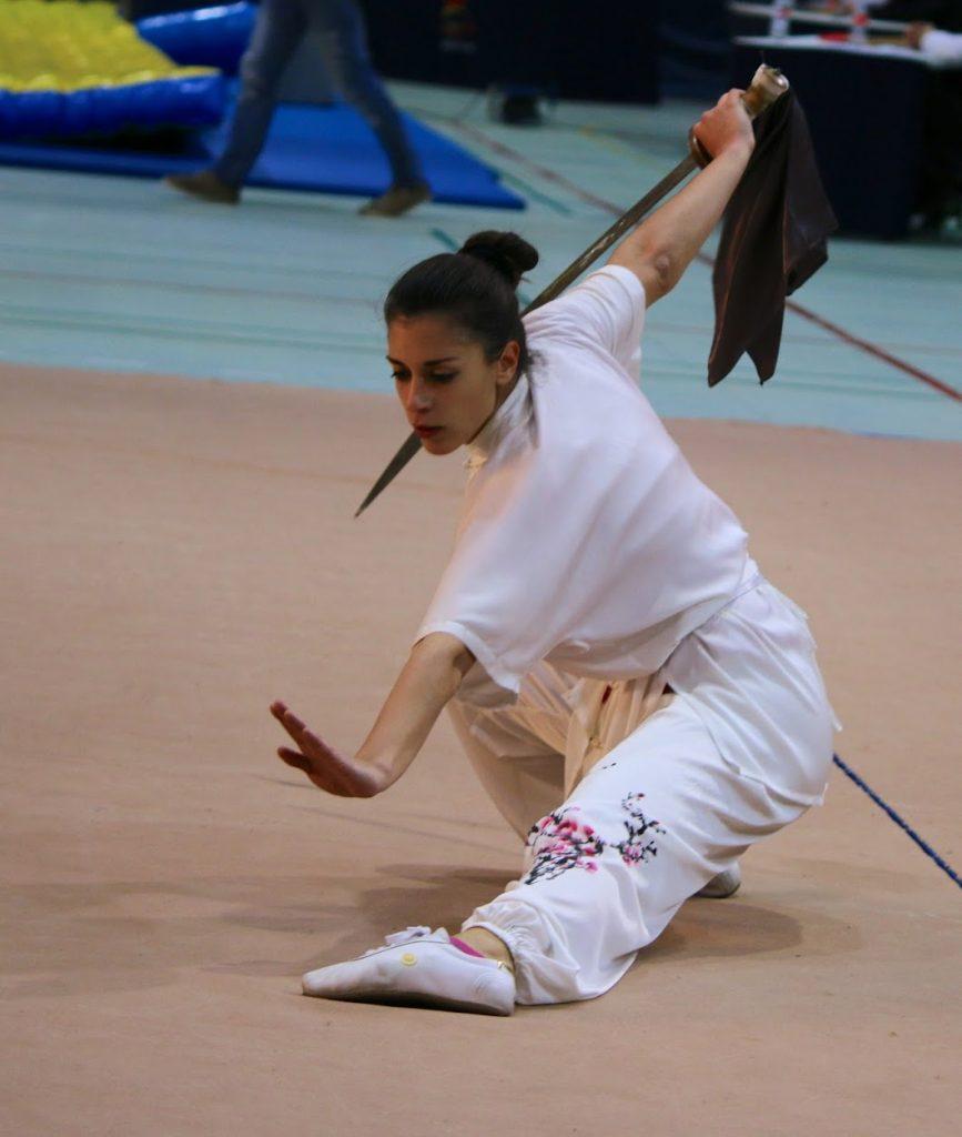 Estela Ramos durante el XXXII Campeonato de España de Wushu