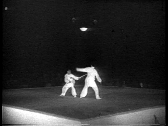 Demostración de wushu para los JJOO de Berlín en 1936