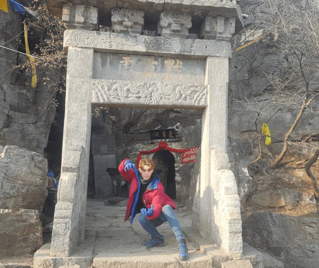 Visita a la cueva de Damo, en Shaolin
