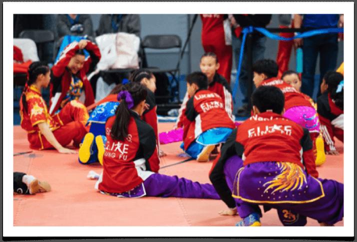 niños wushu reunidos